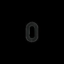 Цифра 0 для маркировки сыра, 10 шт
